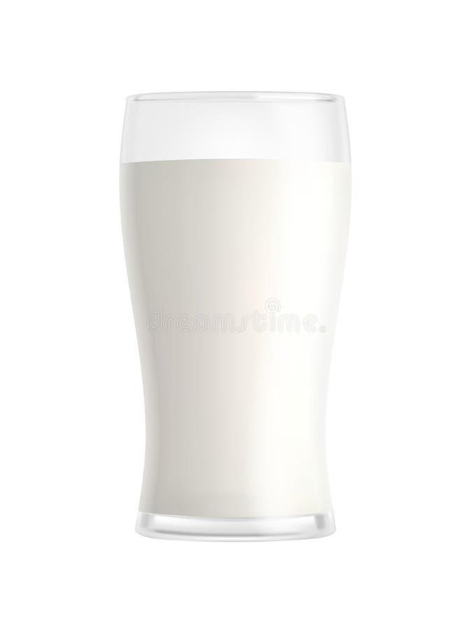 Стекло молока изолированное на белой предпосылке иллюстрация штока