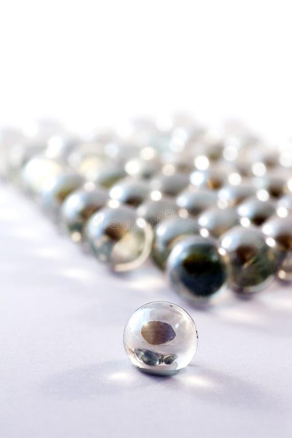 Стекло мраморизует шарики стоковое изображение rf