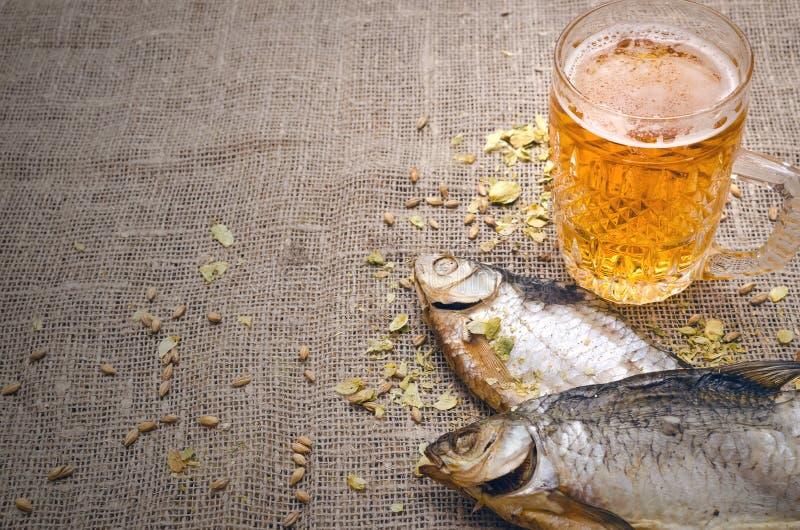 Стекло пенистого светлого пива Спирт в кружке стоковые фото