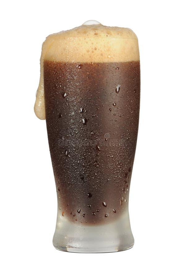 стекло пива черное холодное стоковые изображения