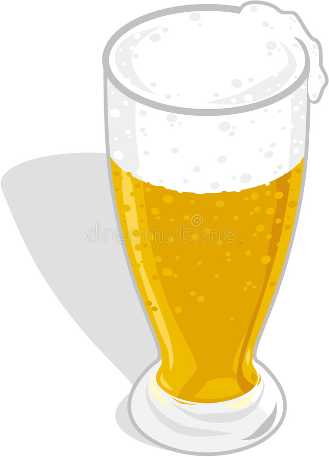 стекло пива иллюстрация вектора