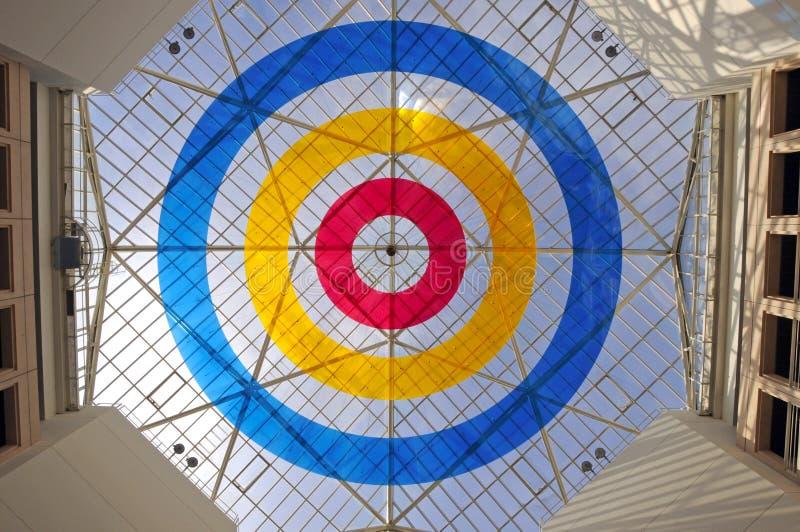 стекло потолка геометрическое стоковая фотография rf