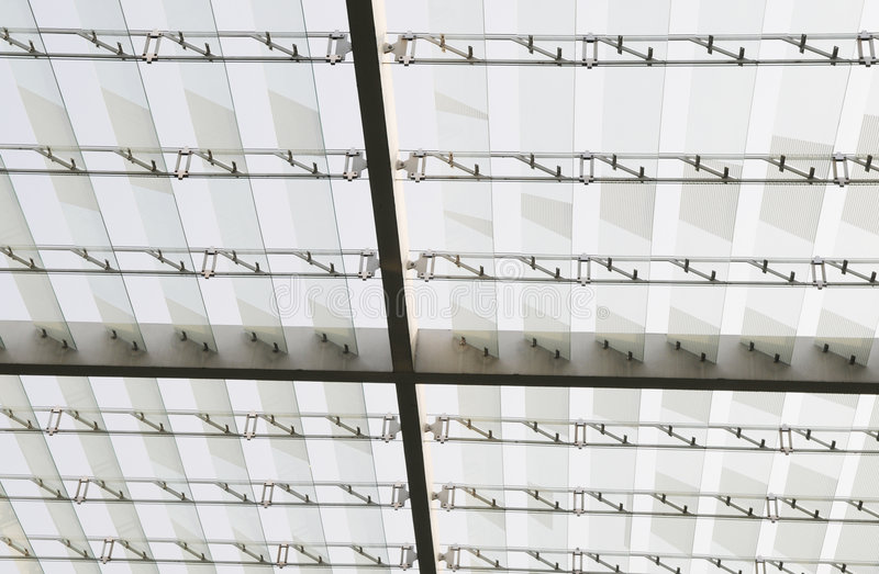 стекло потолка здания самомоднейшее стоковое фото rf