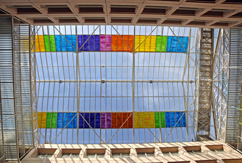 стекло потолка стоковое изображение