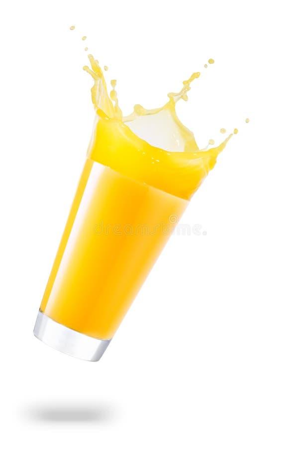 Стекло разливать сок стоковое фото rf