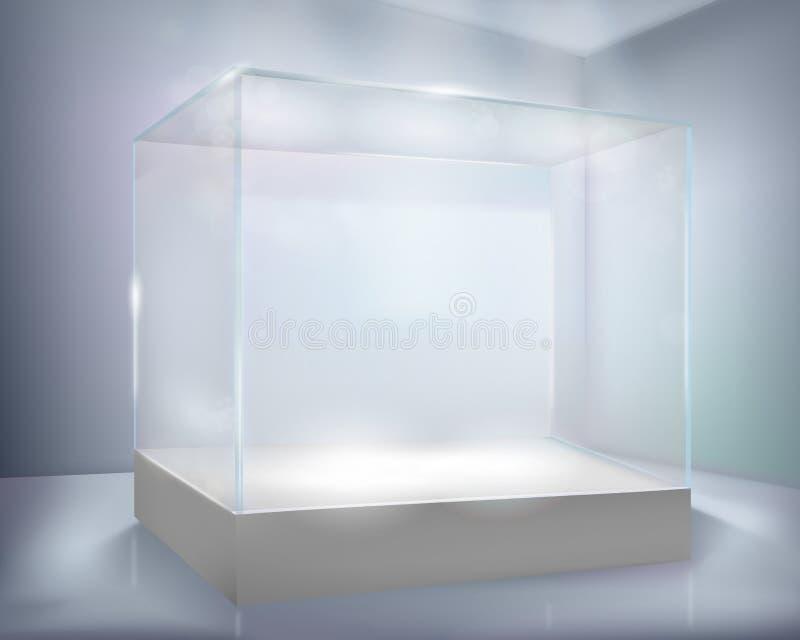 стекло случая иллюстрация штока