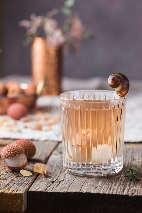 Стекло сока lychee стоковая фотография rf