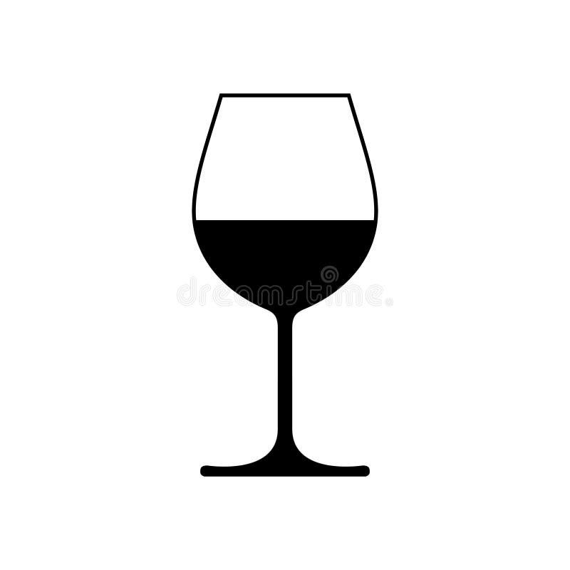 Стекло со значком вина бесплатная иллюстрация