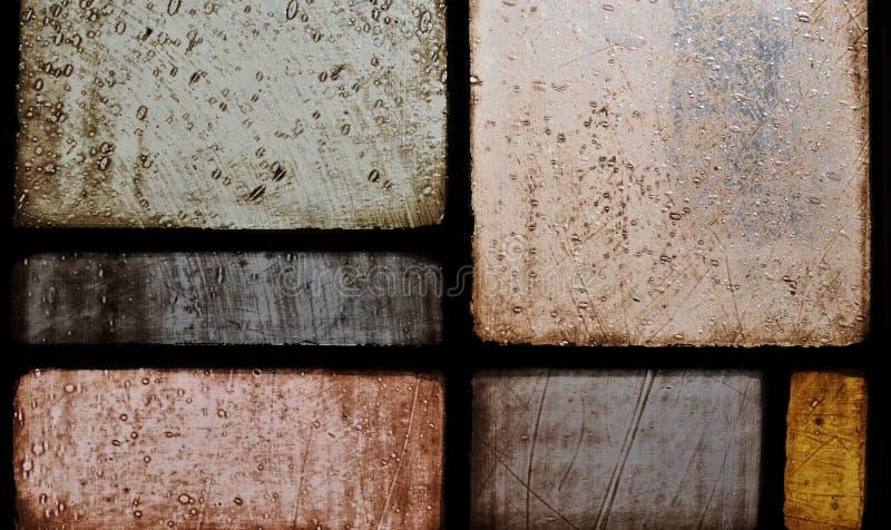 стекло церков близкое запятнанное вверх по окну стоковые изображения rf