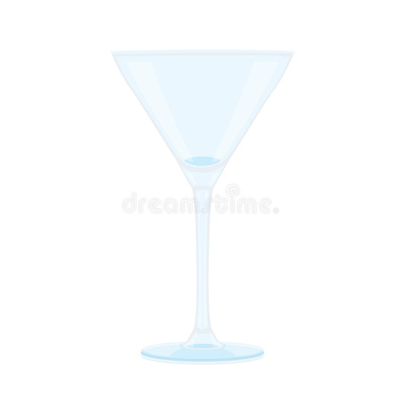 Стекло шампанского и ясного стекла иллюстрация штока