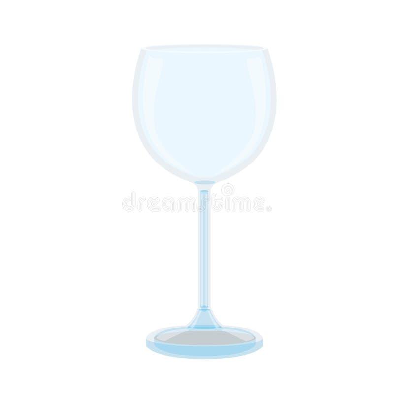 Стекло шампанского на белой предпосылке иллюстрация штока