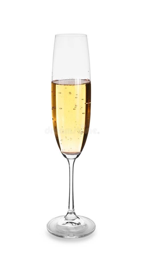 Стекло шампанского на белой предпосылке стоковое фото
