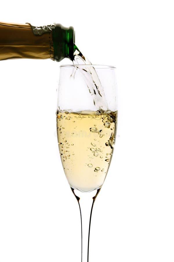 стекло шампанского политое к стоковые фото