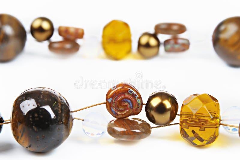 стекло шариков коричневое стоковое изображение rf