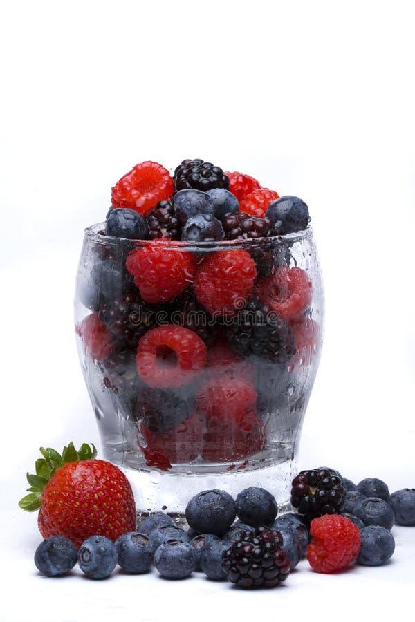 стекло ягод свежее стоковая фотография rf