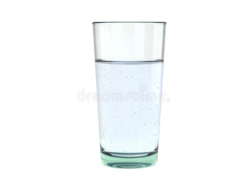 Стекло ясной свежей энергичной сверкная воды - небольших пузырей стоковое фото
