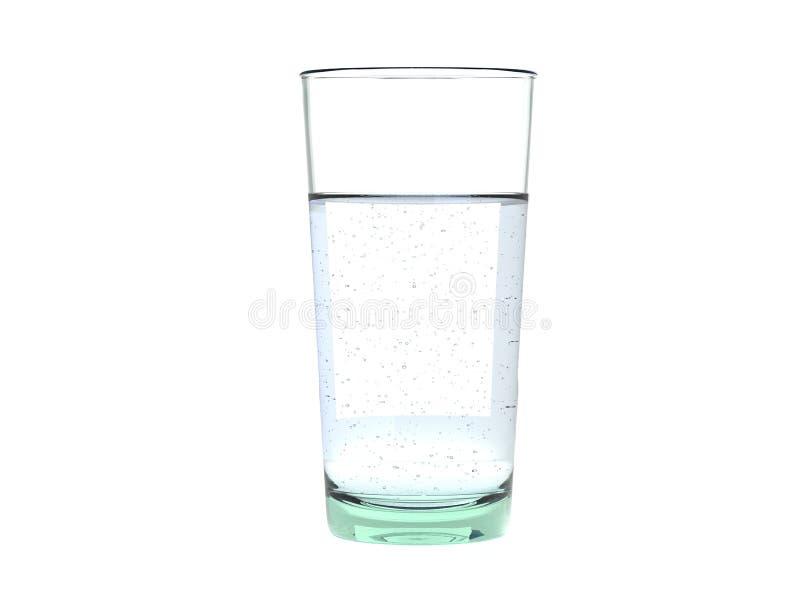 Стекло ясной свежей энергичной сверкная воды стоковое изображение rf