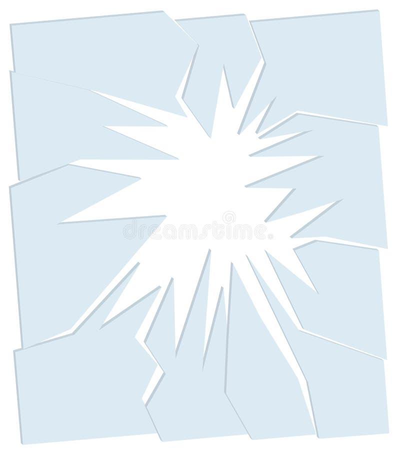 стекло 3d сломанное предпосылкой иллюстрация вектора