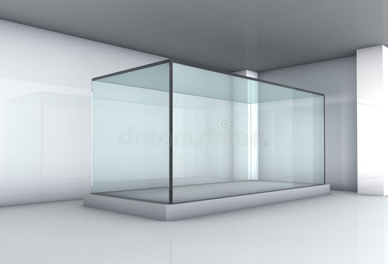 Стеклянная витрина в штольни стоковые изображения rf