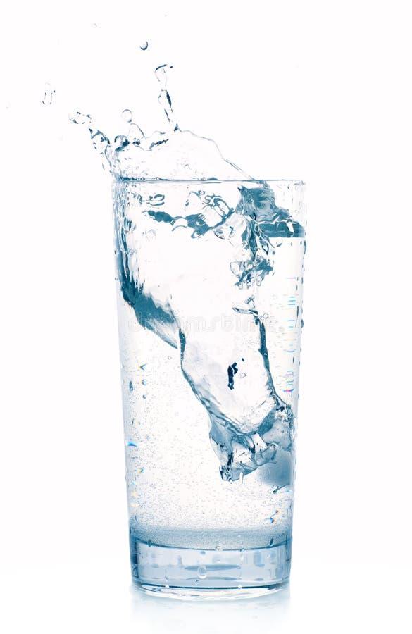стеклянная вода выплеска стоковое изображение rf