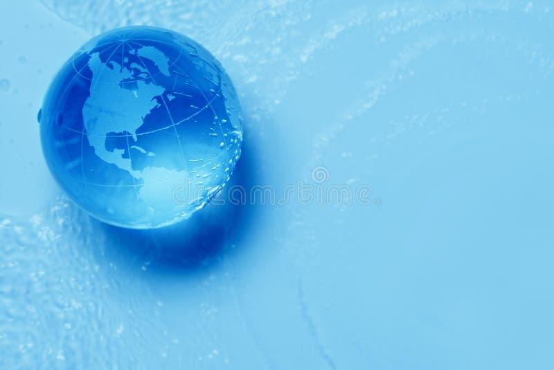 стеклянная вода глобуса иллюстрация штока