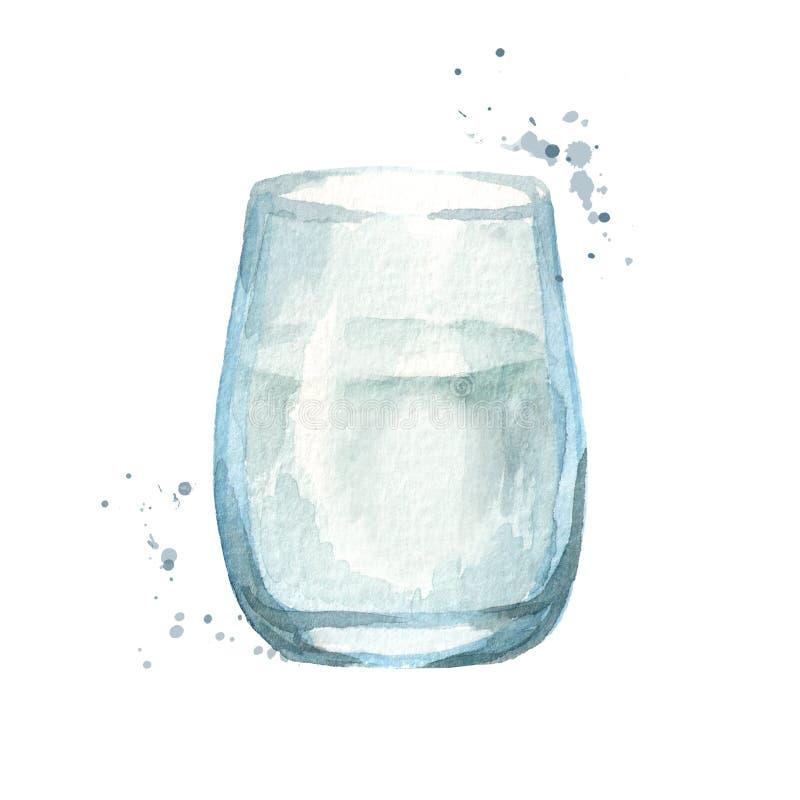 стеклянная вода иллюстратор иллюстрации руки чертежа угля щетки нарисованный как взгляд делает пастель к традиционному иллюстрация вектора