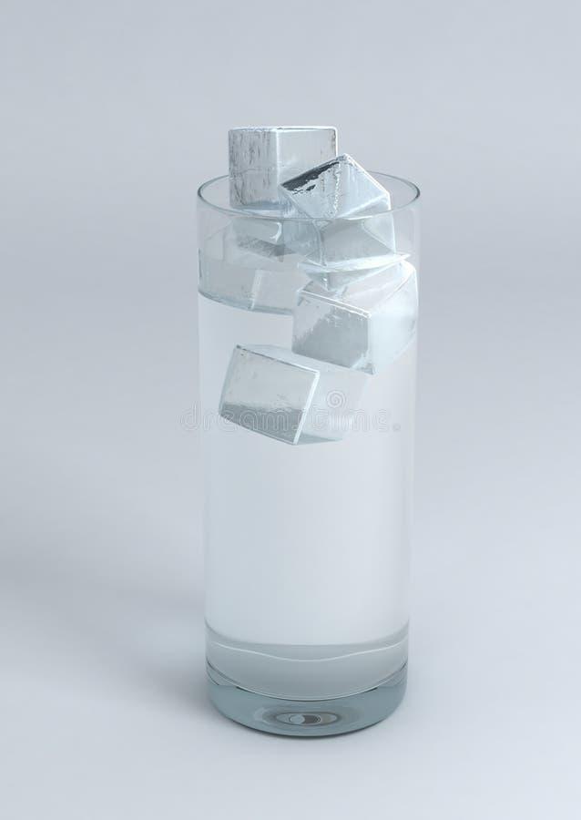 стеклянная вода льда иллюстрация вектора