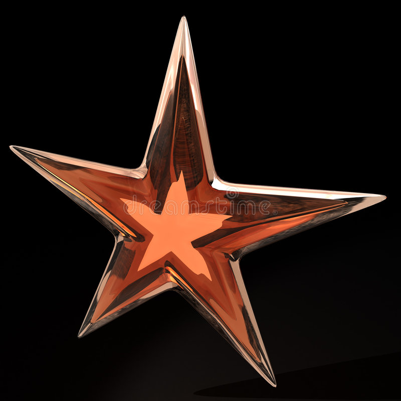 стеклянная звезда иллюстрация вектора