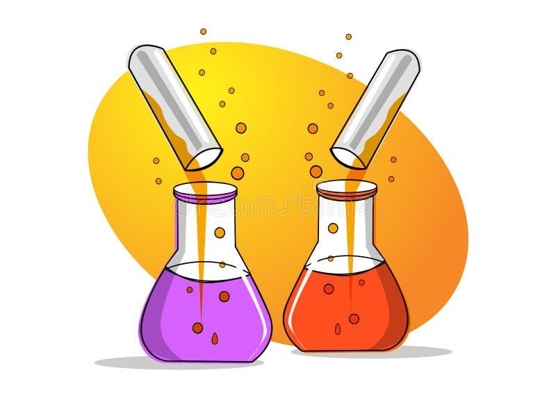 стеклянная лаборатория иллюстрация вектора