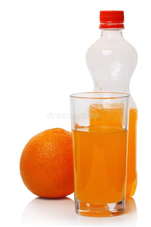 стеклянная померанцовая сода стоковые изображения rf