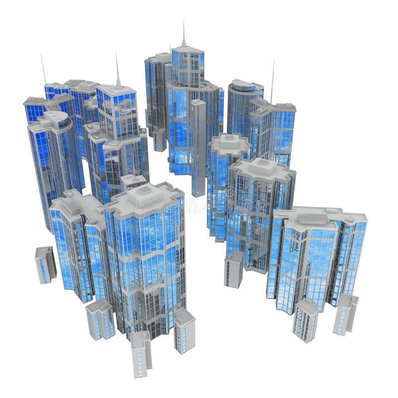 стеклянная стальная улица бесплатная иллюстрация