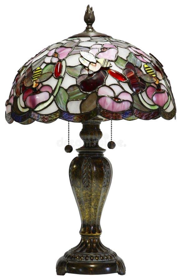стеклянная таблица светильника tiffany стоковые фото