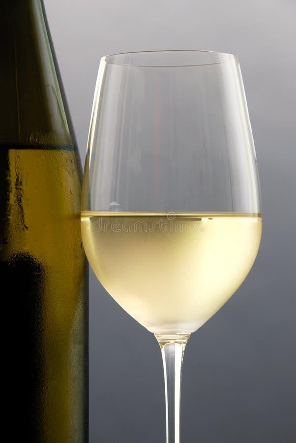 стеклянное белое вино стоковое фото