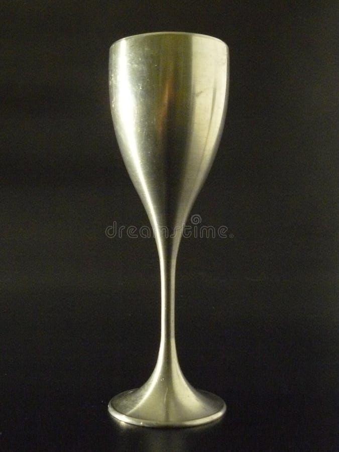 стеклянное вино певтера стоковое фото rf