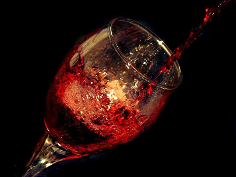 стеклянное вино стоковое изображение rf