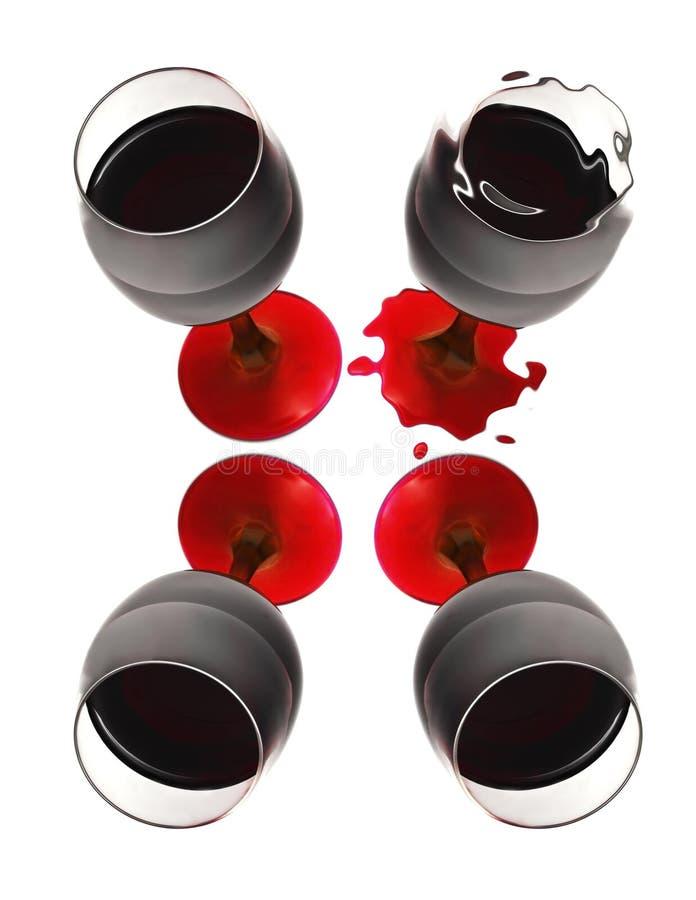 стеклянное вино s стоковая фотография rf