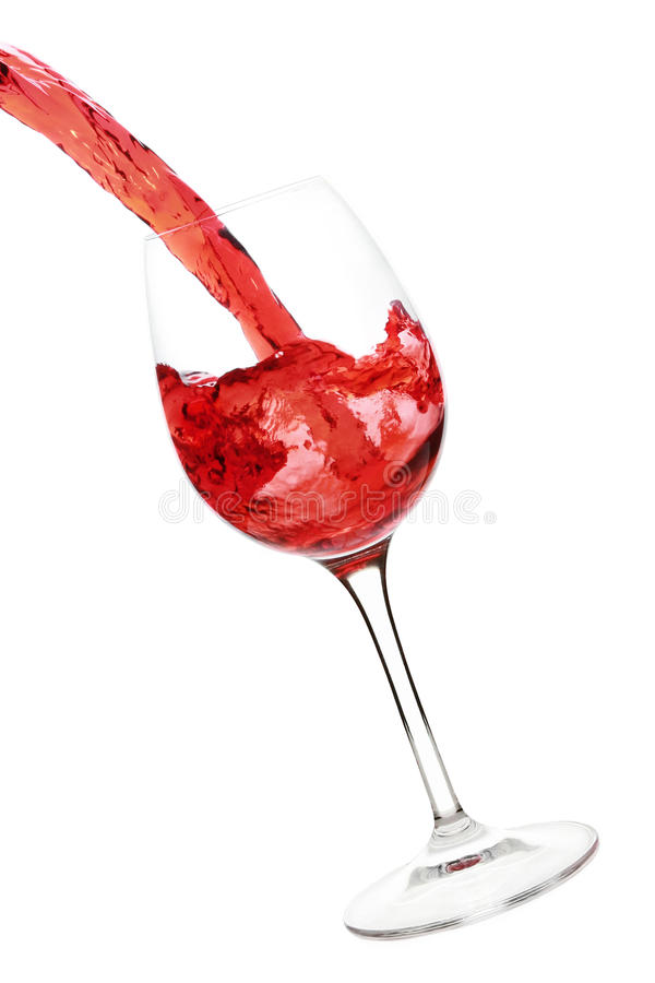 стеклянное красное вино выплеска стоковые изображения rf