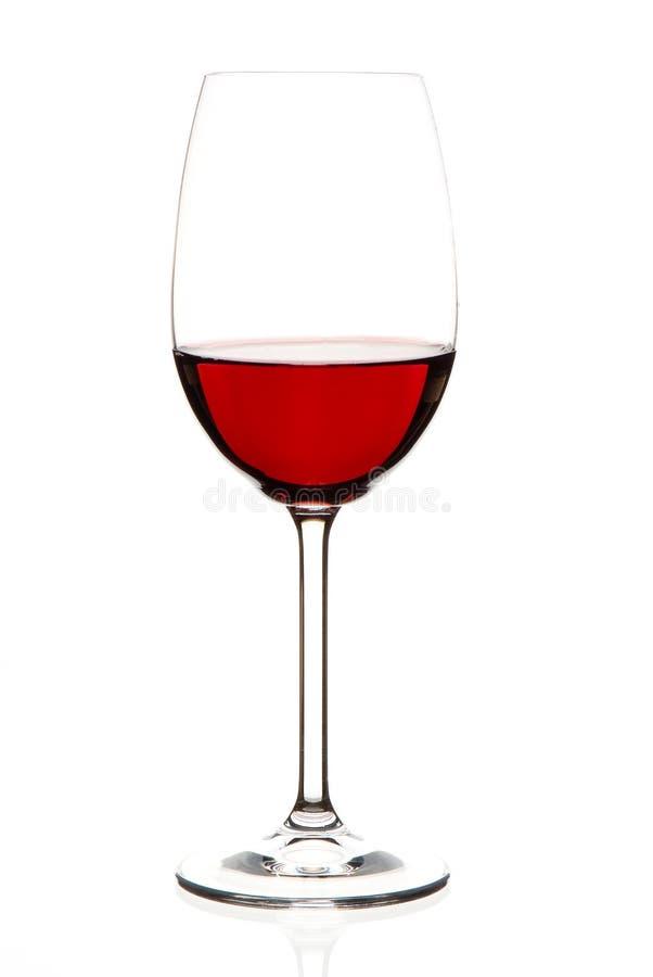 стеклянное красное вино стоковое фото