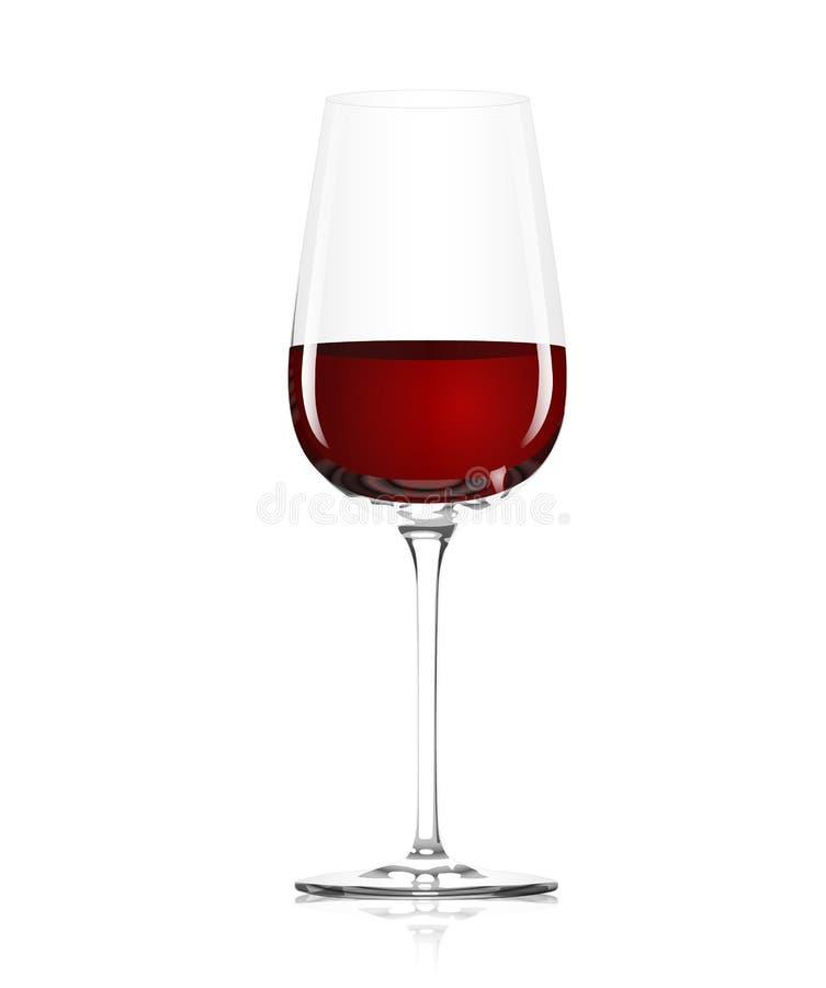 стеклянное красное вино иллюстрация вектора