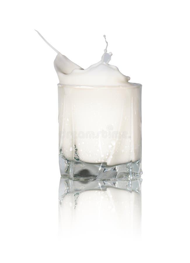 стеклянное молоко стоковая фотография rf