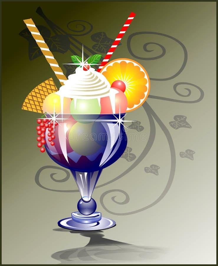 стеклянное мороженое стоковые изображения