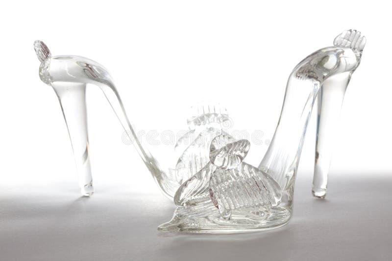 стеклянные ботинки стоковое фото rf