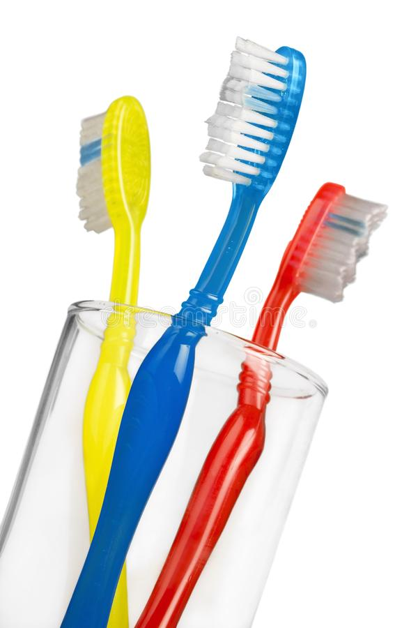 стеклянные зубные щетки стоковые фото