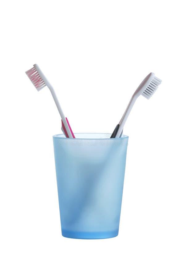 стеклянные зубные щетки 2 стоковое фото