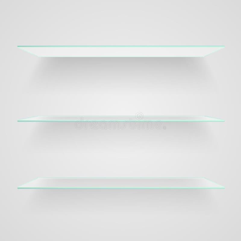 стеклянные полки иллюстрация вектора
