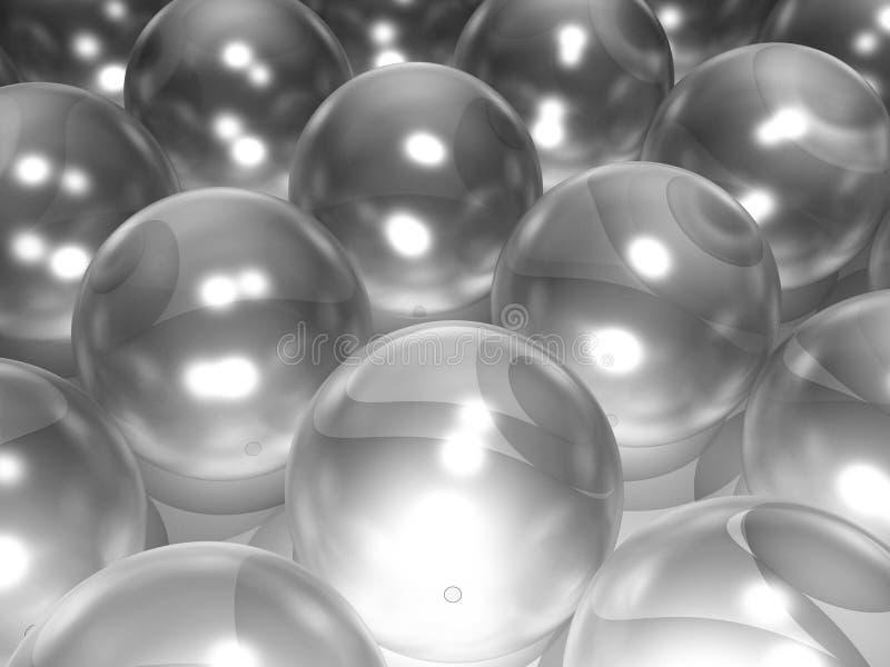стеклянные сферы иллюстрация вектора
