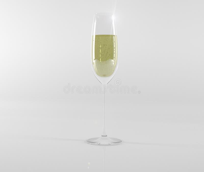 Стеклянный бокал с шампанским стоковые фотографии rf