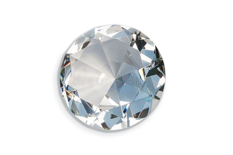 Стеклянный диамант изолированный на белой предпосылке стоковые фото