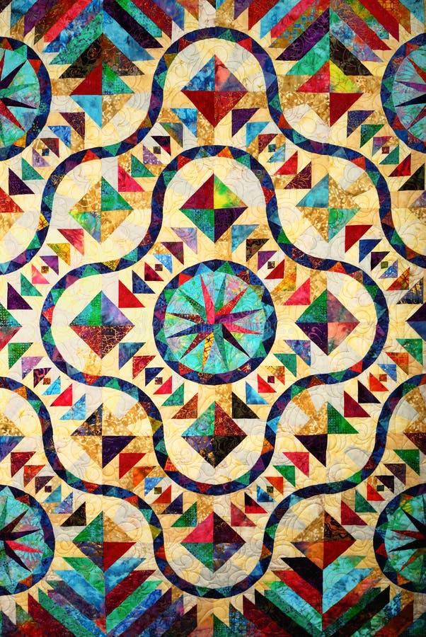 стеклянный запятнанный quilt картины стоковые фото
