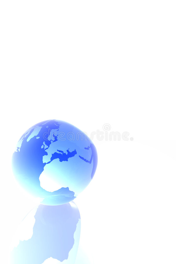 стеклянный мир иллюстрация вектора